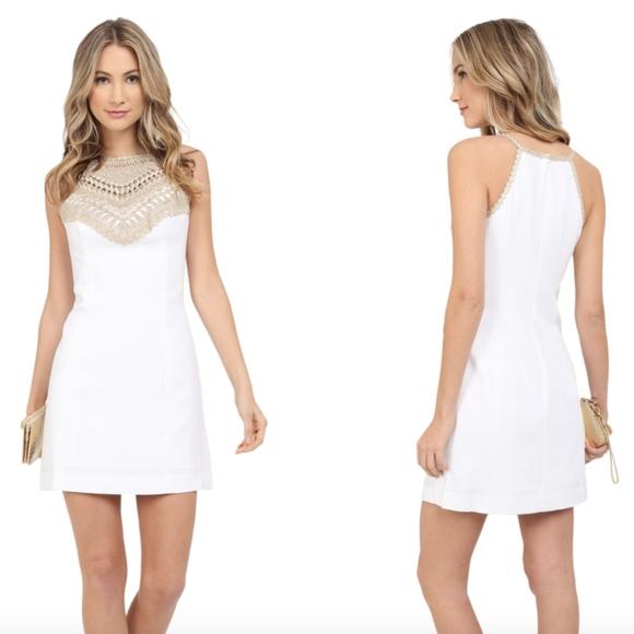 f59da1bfdcfc95 Lilly Pulitzer Dresses | 178 Pearl Soft Shift Dress White 6 | Poshmark